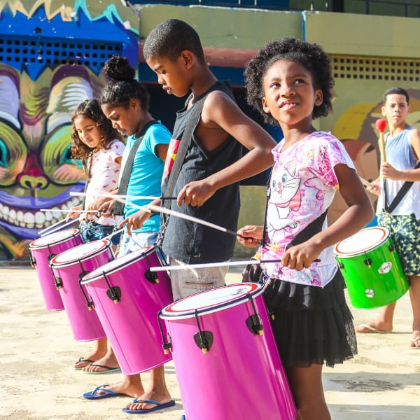 BatucaVidi percussion kids project - Favela Inc incubation program